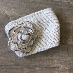 Accessories - Flower stretchy winter cozy headband