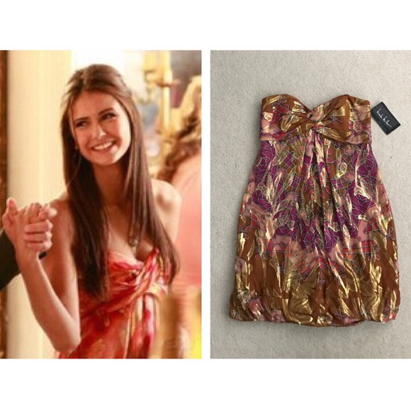 d5c4803e9fa ASO Elena Gilbert TVD Nicole Miller Lava Dress ALT