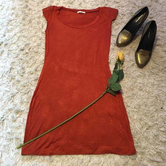 Fave Dresses & Skirts - Orange Bodycon Dress