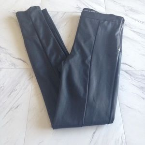 Express faux leather skinny pants