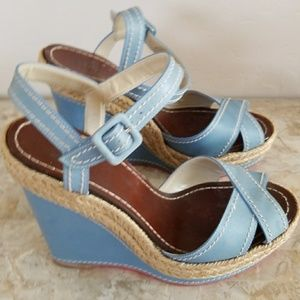 Authentic Christian Louboutin Baby Blue Wedges