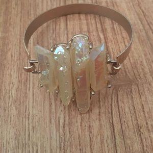 Shimmer crystals gold bracelet