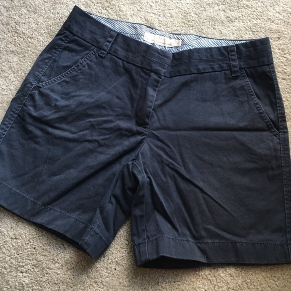 J. Crew Pants - J Crew Navy Blue Chino Shorts Cotton Size 6