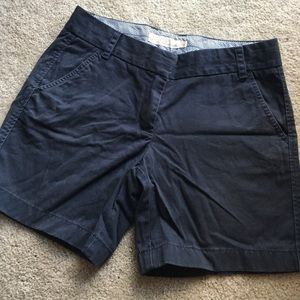 J. Crew Shorts - J Crew Navy Blue Chino Shorts Cotton Size 6
