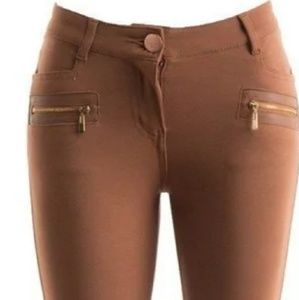 Pants - ⚜final price Vegan leather insert riding pant