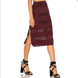 REVOLVE Band of Gypsies crochet midi skirt