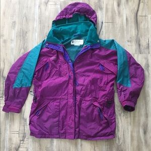 Vintage COLUMBIA Radial Sleeve Purple Jacket Large