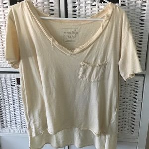 free people distressed tee!