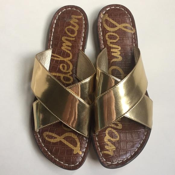 f61f12cbd Sam Edelman Kora sandal in gold sz 8. M 596bff2fbcd4a753770271b8