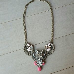 Jewelry - Rhinestone Bib Statement Necklace