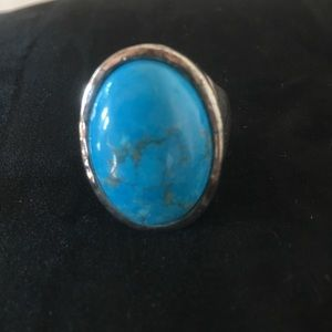 Jewelry - FINAL MARKDOWN! Faux Turquoise/ Silver Plated Ring