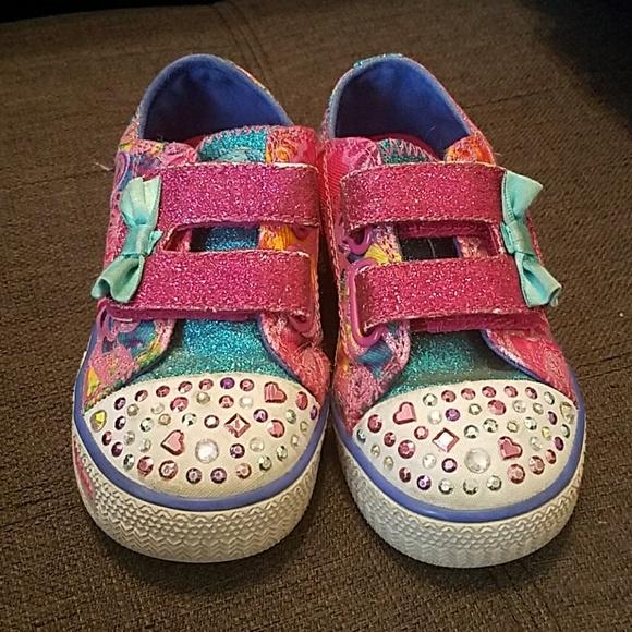 skechers skechers twinkle toes tennis shoes size 8 5