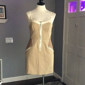 Hype Taupe Bodycon Dress