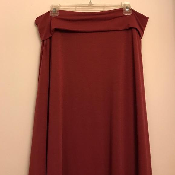 LuLaRoe Dresses & Skirts - LuLaRoe dusty rose maxi skirt
