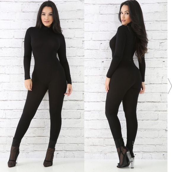 wide selection where can i buy exquisite design NWOT Long Sleeve Turtleneck Jumpsuit