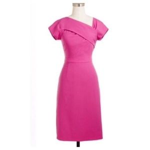 NWT J. Crew Pink Origami Sheath Dress