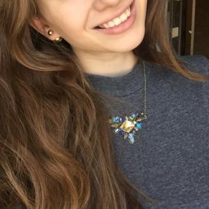 Jewelry - Blue Garden Statement Necklace
