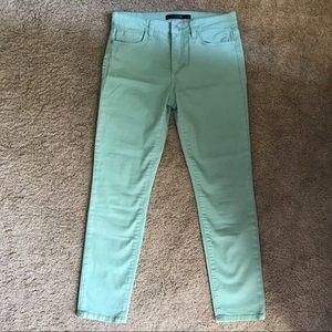 Joe's Jeans. Mint green. Like new. Size: 30
