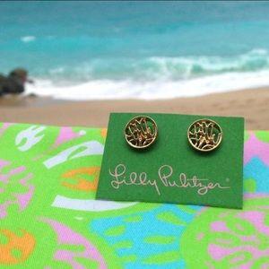 NWOT Lilly Pulitzer script stud earrings