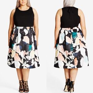 NWT City Chic Printed A Line Dress