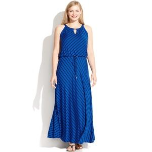 Calvin Klein keyhole maxi dress