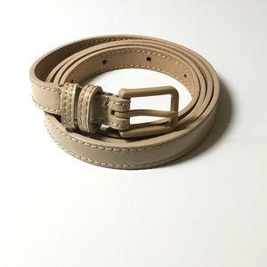 NWOT J.Crew Nude Patent Leather Skinny Belt