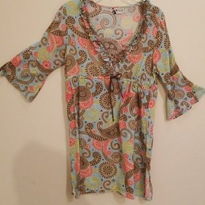 Mudpie swimsuit cover-up tunic size small