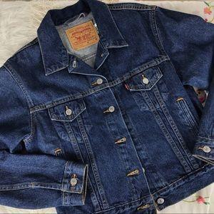 LEVI'S Vintage 90s Denim Dark Jean Jacket