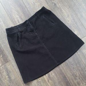 Dresses & Skirts - Corduroy Black Pocket Skirt - Size 14