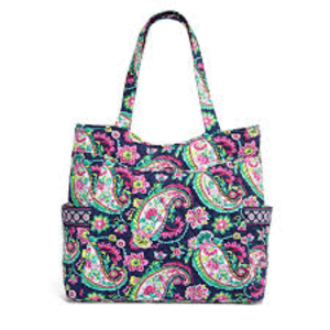 Vera Bradley Pleated Tote in Petal Paisley