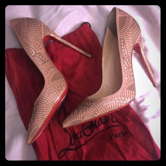 c8240f2947d8 Christian Louboutin Shoes - Christian louboutin kristali nude pumps