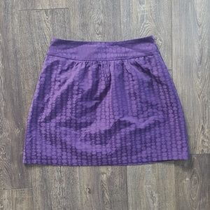 The Limited Purple Polka Dot Skirt - Size 8