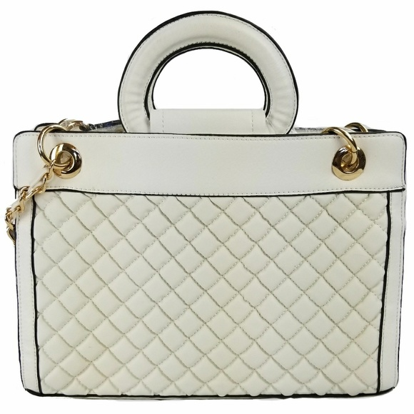 uniqboutique Handbags - White Quilted Handbag