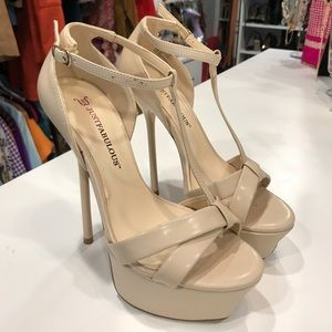 Shoes - Just Fab Nude Heels