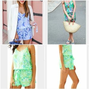 Lilly pulitzer deanna silky romper