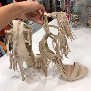 Shoes - Just Fab Fringe Heels