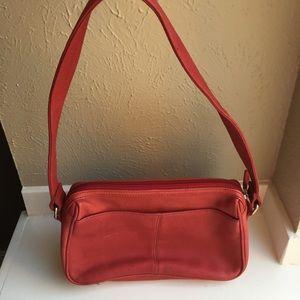Fossil red Handbag Purse leather shoulder organize