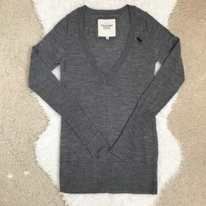 Abercrombie&fitch Wool Gray Sweater