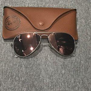 Ray ban pink aviator sunglasses