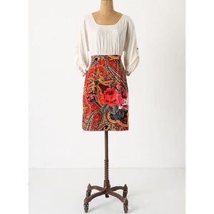 Anthropologie Edme Esyllte Paisley Corduroy Dress