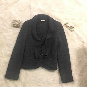 ARMANI Collezioni Women's Ruffled Edge Wool Blazer