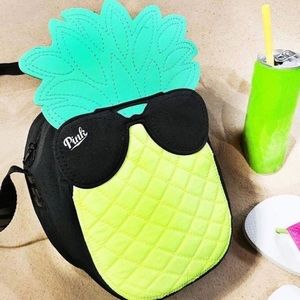 Pink VS pineapple bag