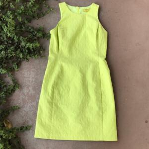 New Milly for Banana Republic Yellow Sheath Dress