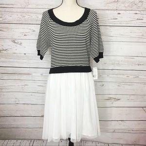 Maison Jules Short Sleeve Sweater Dress