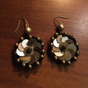 Jewelry - Boho silver and gold earrings