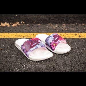 718532fc2 Nike Shoes - Wmns Nike Benassi JDI Ultra Premium Floral Slides