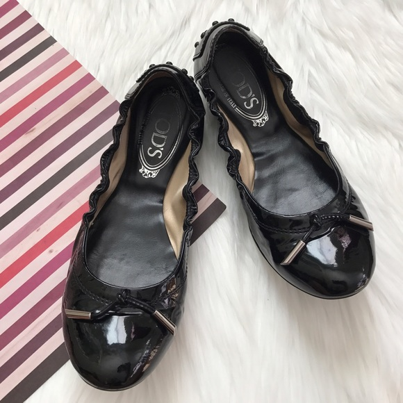 b63ad22744 Tod's Shoes | Tods Dee Laccetto Patent Leather Ballet Flats | Poshmark
