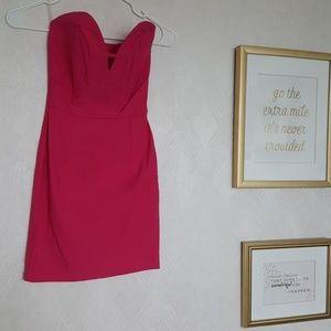 Hot pink Haute dress..