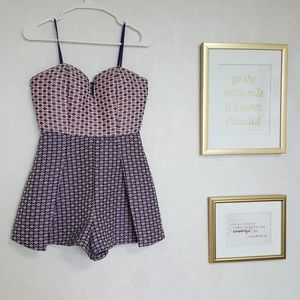 Strapless romper with millennial pink!
