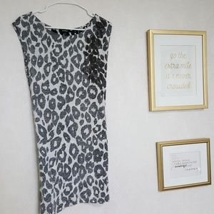 Express animal print dress